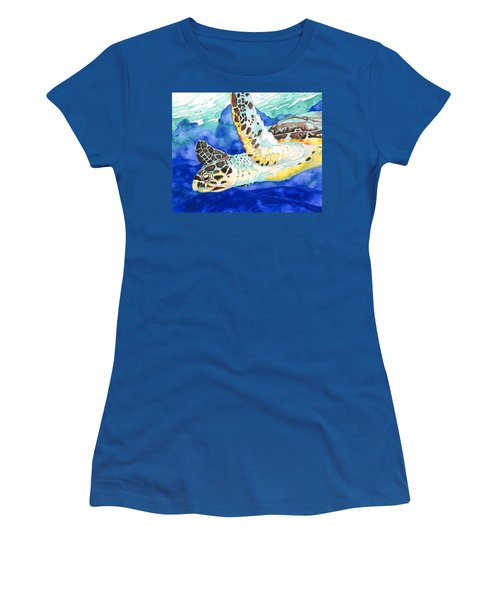 Hawksbill Sea Turtle Women's T-Shirt (Athletic Fit)