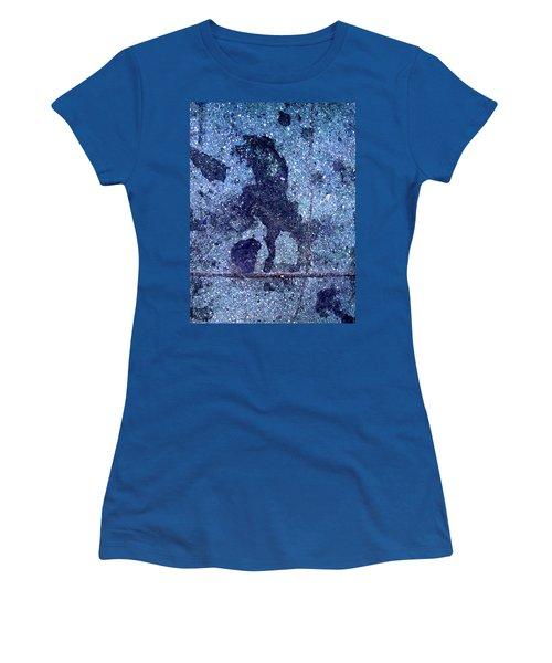 Horse Smashing Evil On Skid Row Women's T-Shirt