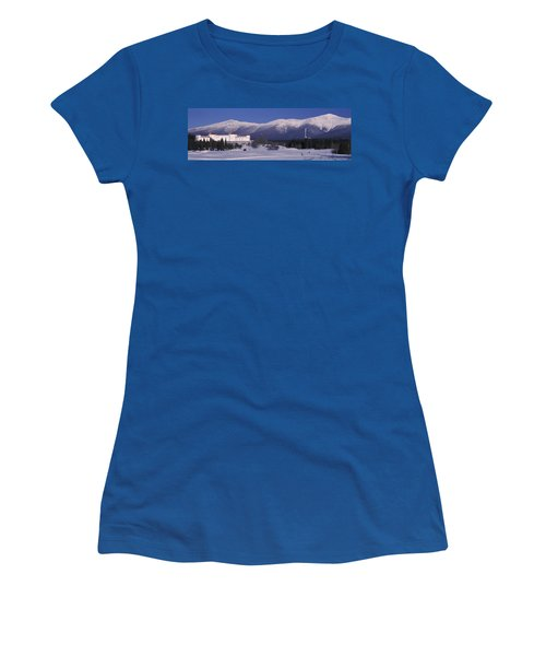 Hotel Near Snow Covered Mountains, Mt Women's T-Shirt