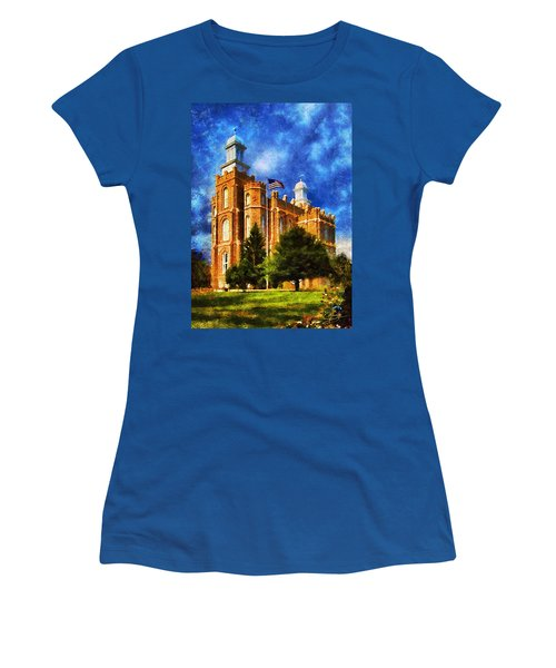 Women's T-Shirt (Junior Cut) featuring the digital art House Of Learning by Greg Collins