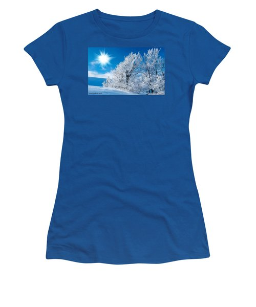 Icy Trees Women's T-Shirt (Junior Cut) by Bruce Nutting