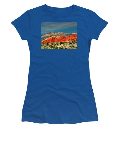 In Red Mountain 1 Women's T-Shirt (Athletic Fit)