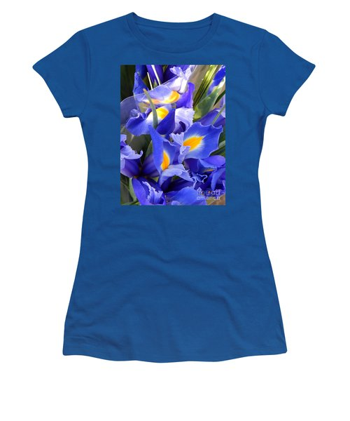 Iris Blues In New Orleans Louisiana Women's T-Shirt (Junior Cut) by Michael Hoard