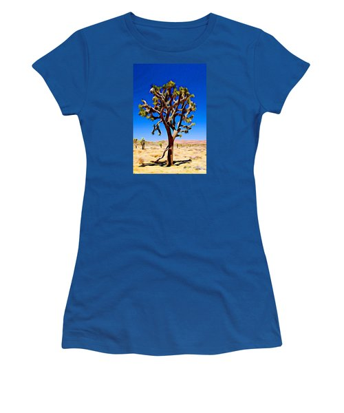 Joshua Tree Dark Women's T-Shirt (Junior Cut) by Jeff Iverson