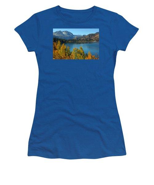 June Lake Blues And Golds Women's T-Shirt (Junior Cut) by Lynn Bauer