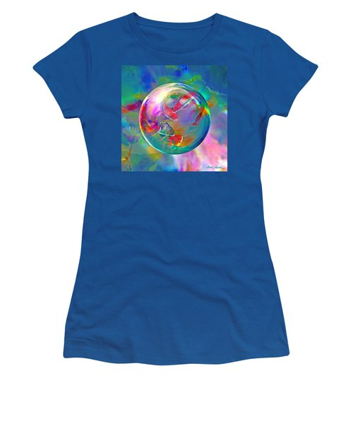Koi Pond In The Round Women's T-Shirt (Junior Cut) by Robin Moline