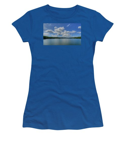 Women's T-Shirt (Junior Cut) featuring the photograph Lake Arrowhead by Julia Wilcox