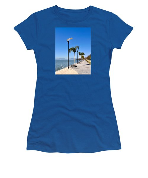 Lake Chapala - Mexico Women's T-Shirt (Junior Cut) by David Perry Lawrence