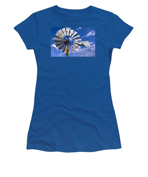 Large Windmill Women's T-Shirt (Athletic Fit)