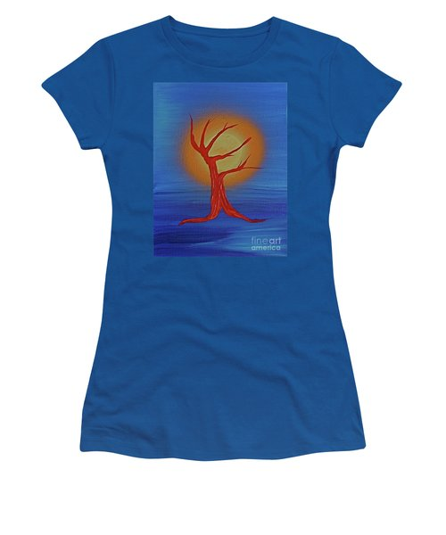 Women's T-Shirt (Junior Cut) featuring the painting Life Blood By Jrr by First Star Art