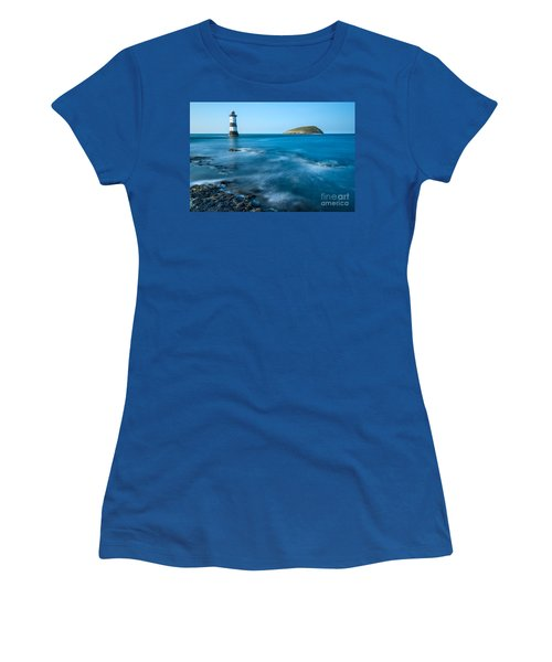 Lighthouse At Penmon Point Women's T-Shirt (Athletic Fit)