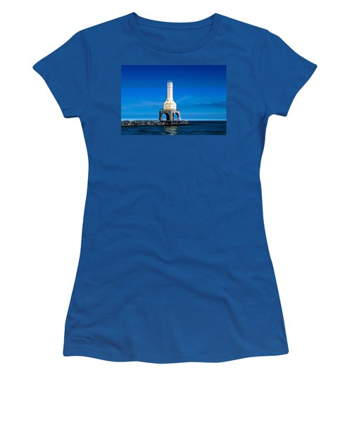 Lighthouse Blues Women's T-Shirt (Athletic Fit)