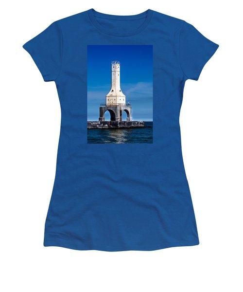 Lighthouse Blues Vertical Women's T-Shirt