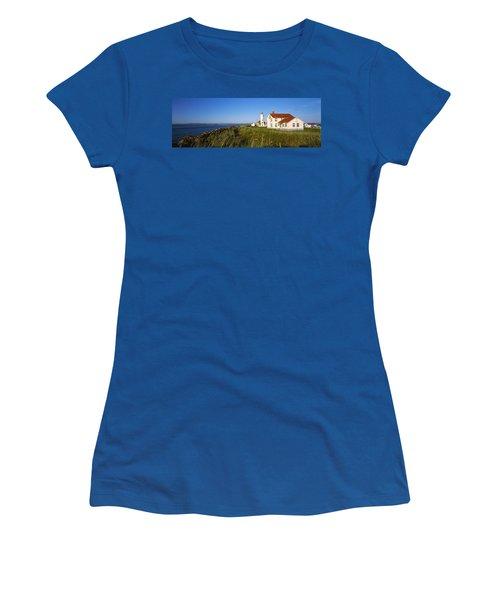 Lighthouse On A Landscape, Ft. Worden Women's T-Shirt