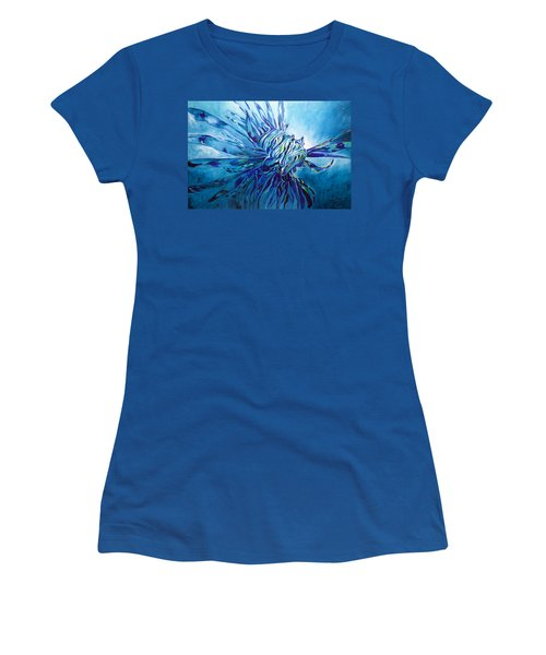 Lionfish Abstract Blue Women's T-Shirt
