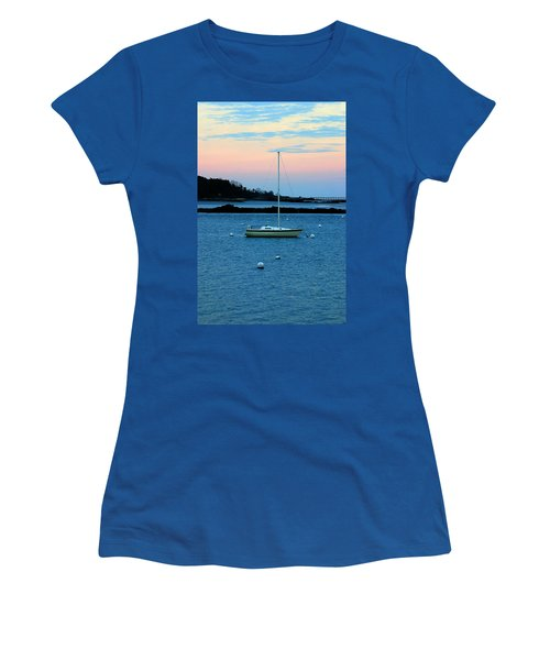 Lone Sailboat At York Maine Women's T-Shirt (Athletic Fit)