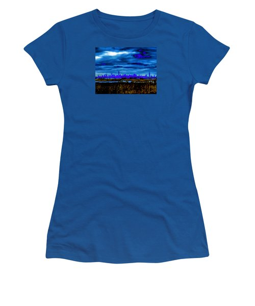 Women's T-Shirt (Junior Cut) featuring the photograph Manhattan Project by Michael Nowotny