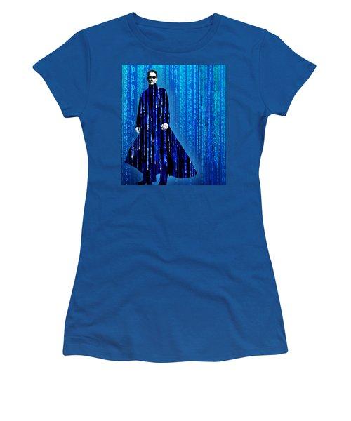 Matrix Neo Keanu Reeves Women's T-Shirt