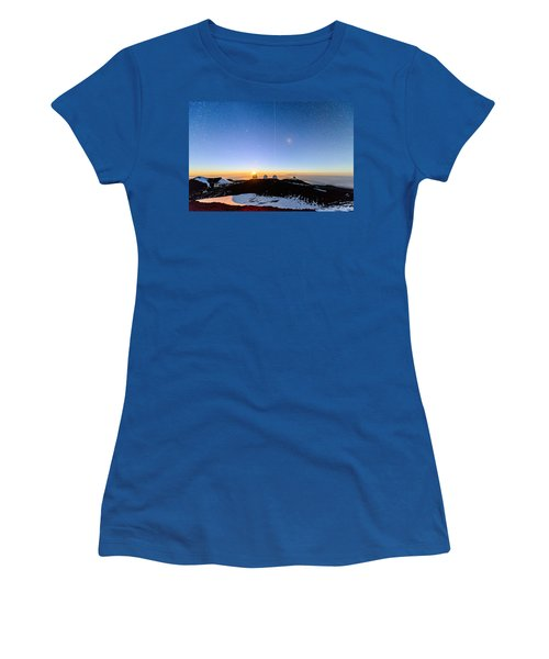 Mauna Kea Moonset 1 Women's T-Shirt (Athletic Fit)