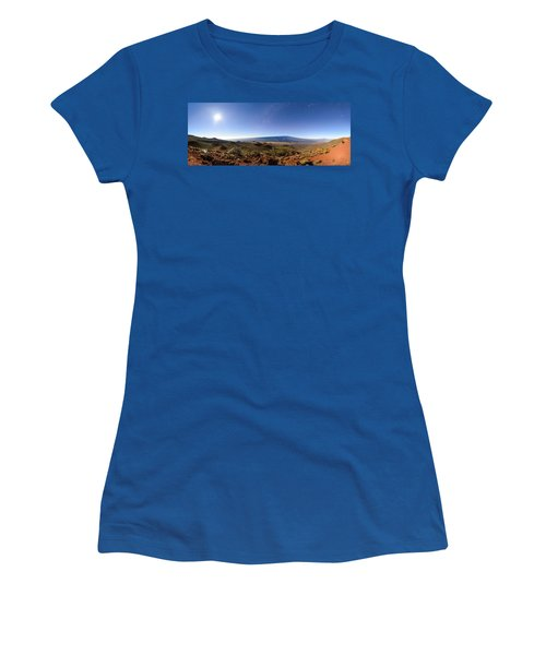 Mauna Loa Moonlight Panorama Women's T-Shirt