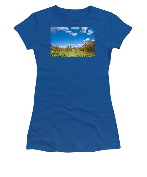Women's T-Shirt (Junior Cut) featuring the photograph Meadow Of False Hellebore by Jeff Goulden