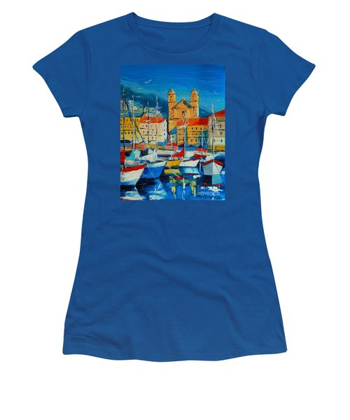 Mediterranean Harbor Women's T-Shirt (Athletic Fit)