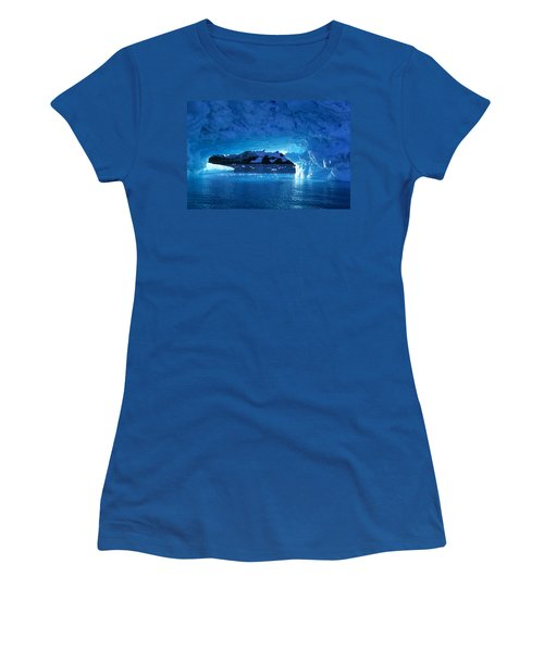 Melting Ice Cave Antarctica Women's T-Shirt