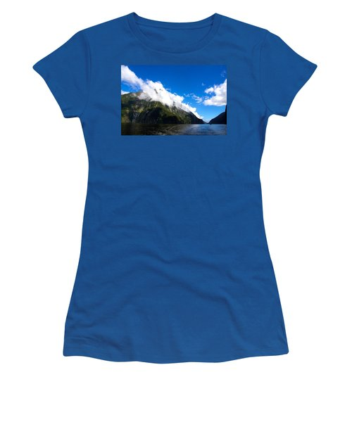 Milford Sound #2 Women's T-Shirt (Junior Cut) by Stuart Litoff