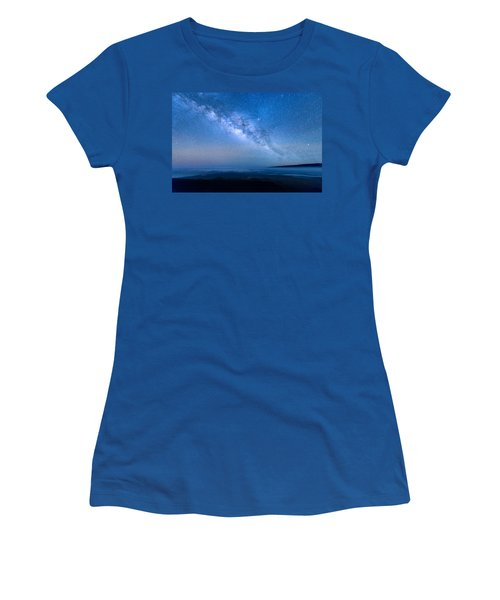 Milky Way Suspended Above Mauna Loa 1 Women's T-Shirt (Athletic Fit)