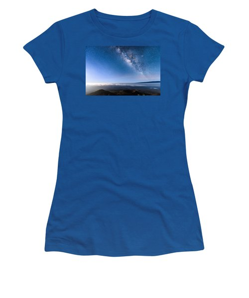 Milky Way Suspended Above Mauna Loa 2 Women's T-Shirt (Athletic Fit)
