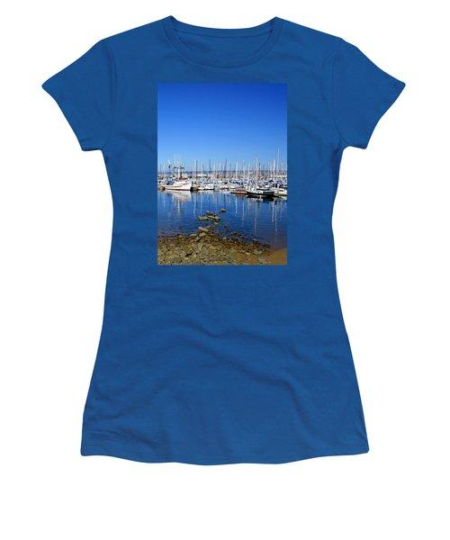 Women's T-Shirt (Junior Cut) featuring the photograph Monterey-7 by Dean Ferreira