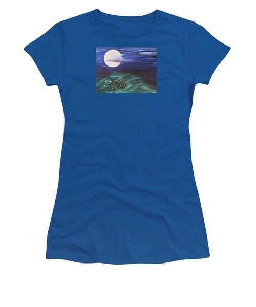 Moon Showers Women's T-Shirt (Athletic Fit)