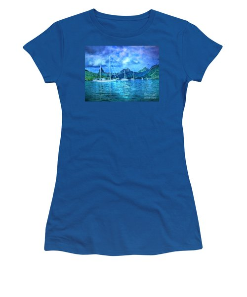 Moonrise In Mo'orea Women's T-Shirt (Athletic Fit)