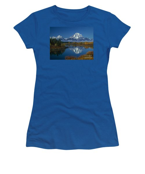 Morning Cloud Layer Oxbow Bend In Fall Grand Tetons National Park Wyoming Women's T-Shirt
