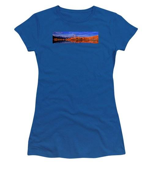 Mount Moran And Fall Color Grand Tetons Women's T-Shirt