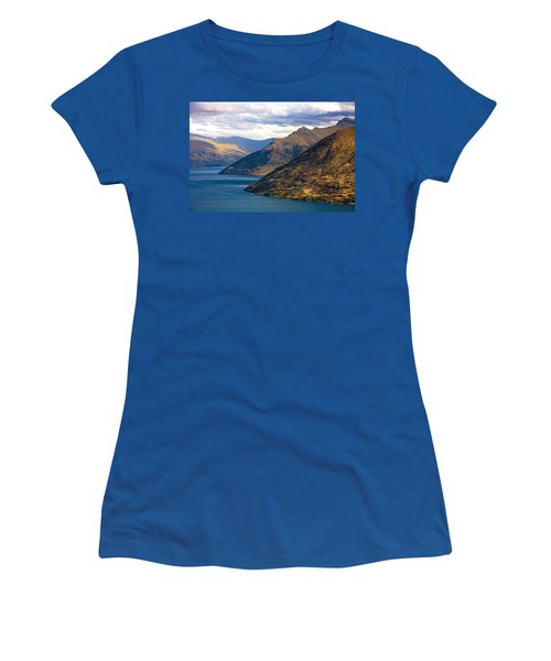 Mountains Meet Lake Women's T-Shirt (Athletic Fit)