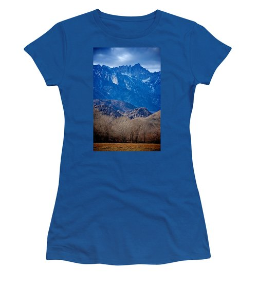 Mt. Whitney And Alabama Hills Women's T-Shirt (Junior Cut) by Eric Tressler