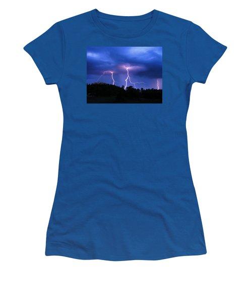 Multi Arc Lightning Strike Women's T-Shirt (Athletic Fit)