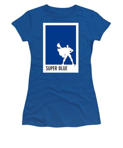 My Superhero 03 Super Blue Minimal Poster Women's T-Shirt