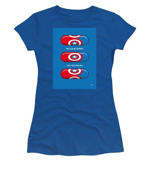 My Superhero Pills - Captain America Women's T-Shirt
