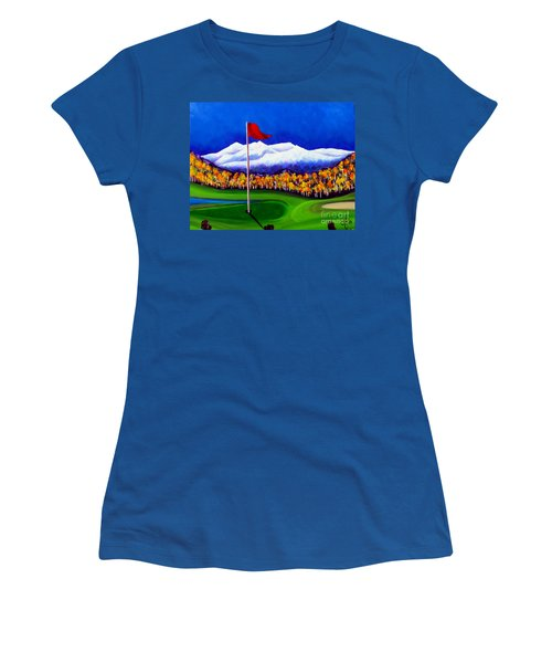 Women's T-Shirt (Junior Cut) featuring the painting Never Enough by Jackie Carpenter