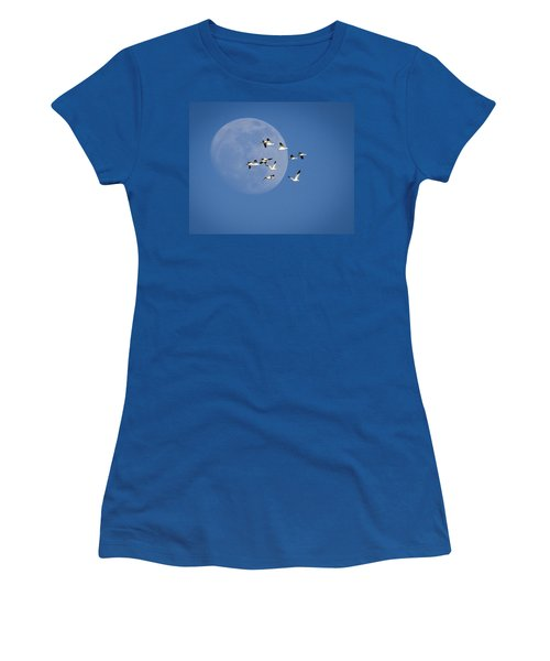 Women's T-Shirt (Junior Cut) featuring the photograph North Bound by Jack Bell