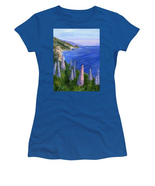 Northern California Cliffs Women's T-Shirt (Junior Cut) by Jamie Frier