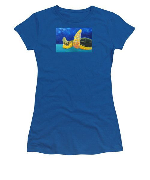 Obx Turtle Women's T-Shirt (Junior Cut) by Anne Marie Brown