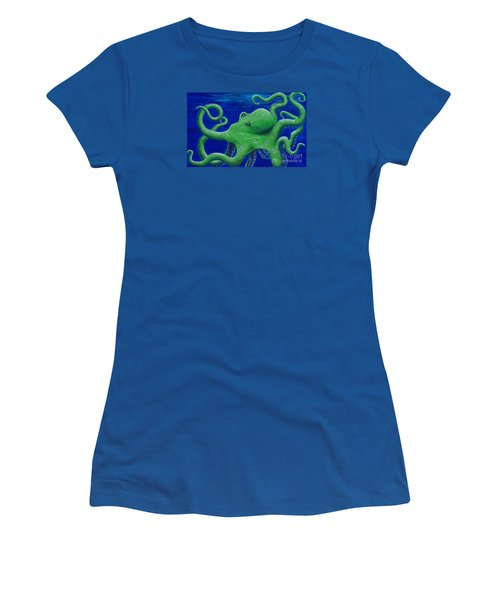 Octohawk Women's T-Shirt (Junior Cut) by Rebecca Parker