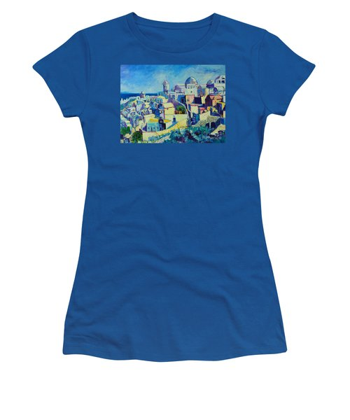 Women's T-Shirt (Junior Cut) featuring the painting OIA by Ana Maria Edulescu