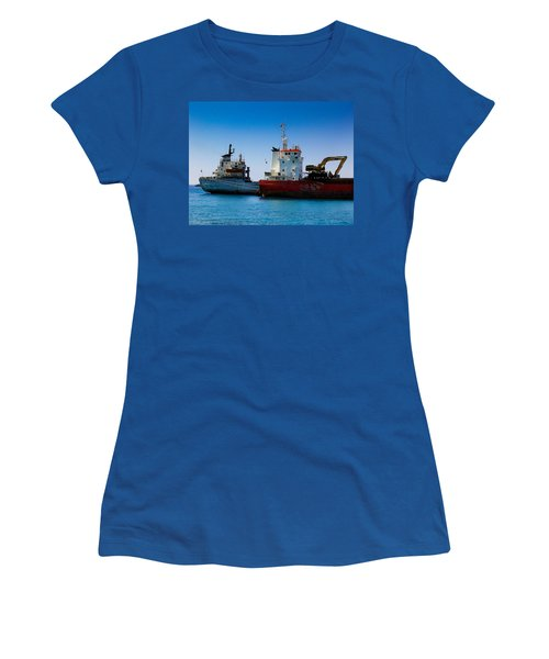 Women's T-Shirt (Junior Cut) featuring the photograph Old Ships by Kevin Desrosiers