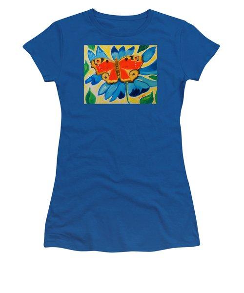 On Top Of My World Women's T-Shirt (Junior Cut) by Meryl Goudey
