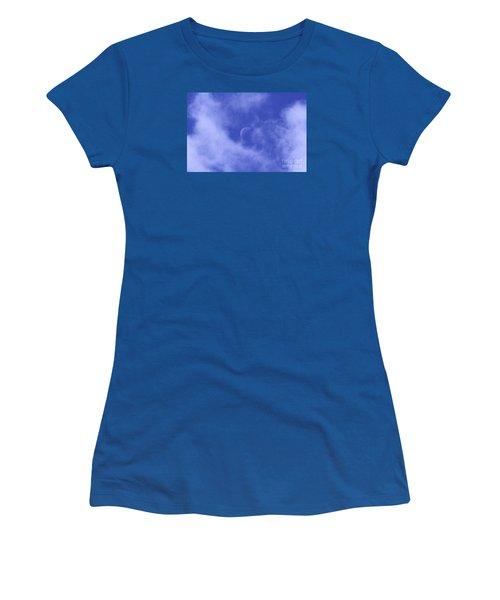 Women's T-Shirt (Junior Cut) featuring the photograph Once In A Blue Moon by Judy Whitton
