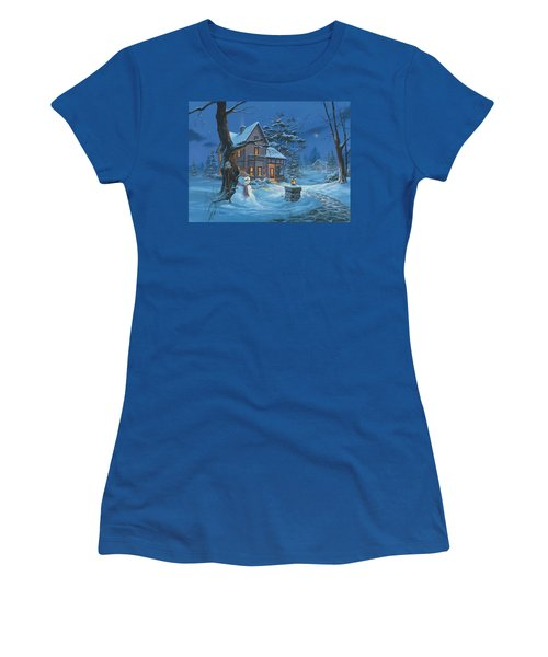 Once Upon A Winter's Night Women's T-Shirt (Athletic Fit)